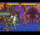 Teenage Mutant Ninja Turtles: Tournament Fighters SNES Nice kick