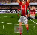 adidas Power Soccer 98 PlayStation UEFA Cup match. Benfica vs Mouscron.