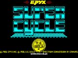 Super Cycle ZX Spectrum Loading screen