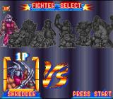 Teenage Mutant Ninja Turtles: Tournament Fighters SNES Character selection
