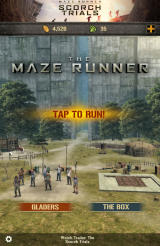 The Maze Runner Android Main menu