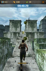 The Maze Runner Android Running up a small ledge.