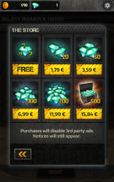 Maze Runner: The Scorch Trials Android In-app purchases for the premium gems currency