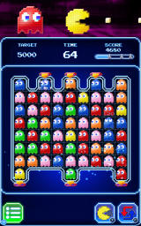 Pac-Man: Puzzle Tour Android An unusual game where ghosts shift and disappear from the bottom of the board.