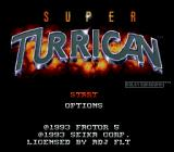 Super Turrican SNES Title screen