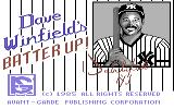 Dave Winfield's Batter Up! Commodore 64 Title screen
