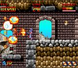 Super Turrican SNES The Spreadshot in action