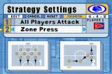 International Superstar Soccer Game Boy Advance Friendly Match.... Strategy Settings.