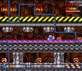 Super Turrican SNES Using the energy wheel to reach a secret area