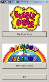 Bubble Bobble also featuring Rainbow Islands Windows Immediately after the installation finishes it exits to this window. This is the same window that appears when the CD autoloads<br>UK Xplosiv release
