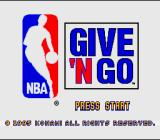 NBA Give 'n Go SNES Title screen
