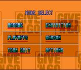 NBA Give 'n Go SNES Mode select