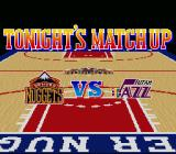 NBA Give 'n Go SNES Denver Nuggets vs Utah Jazz