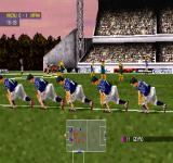 adidas Power Soccer 98 PlayStation Japan scored. Celebration time.