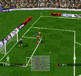adidas Power Soccer 98 PlayStation Tournaments mode - World Cup 98. Jamaica vs Japan. Isometric camera.