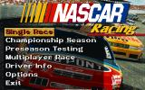NASCAR Racing DOS Menu