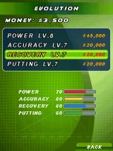 Pro Golf: World Tour 2010 J2ME Evolution - upgrading abilities
