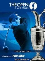 The Open Championship J2ME Title screen