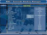 NHL Eastside Hockey Manager Windows The first time the game is played the player is directed to this configuration screen before they  see the main menu. Thereafter they go to the main menu where this is an option