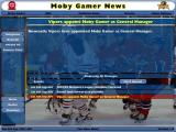 NHL Eastside Hockey Manager Windows This is the screen where the player reviews messages. The player has taken control of the club so there's the usual messages of welcome and expectation