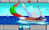 Electric Jigsaw DOS Sailboat picture is examined (EGA / Tandy)