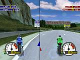Moto Racer 2 PlayStation 2 player race, you can play against a friend in this mode.