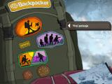 Backpacker 3 Windows Main menu (Finnish version)