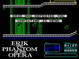 Erik: Phantom of the Opera ZX Spectrum The lower red bar represents Raoul's energy, the game is over.