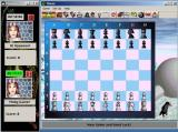 Internet Board Games: Network Edition Windows This is a game of Chess<br>Games are played like this with the timers and scores for each player being shown in a separate window.