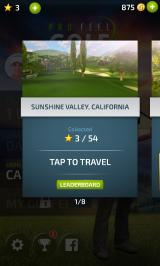 Pro Feel Golf Android Course selection