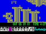 Lemmings ZX Spectrum Lemmings floating down
