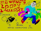 Mr. Wong's Loopy Laundry ZX Spectrum Loading Screen.