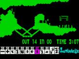 Lemmings ZX Spectrum Lemmings clear a path