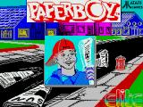 Paperboy ZX Spectrum Title screen