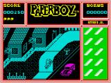 Paperboy ZX Spectrum Non customers have dark colored houses
