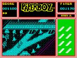 Paperboy ZX Spectrum The end of level obstacle course