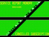Paperboy ZX Spectrum End of level delivery report