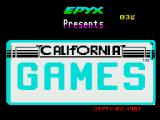 California Games ZX Spectrum Title screen