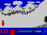 Perils of ... Bear George ZX Spectrum But because this is a cartoon game, bit by bit George recollected his scattered pieces and repeated the process of storing food, but without greediness this time. It's about time to go back home.