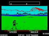 California Games ZX Spectrum Running to catch the flying disc