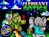 CJ's Elephant Antics ZX Spectrum Title screen