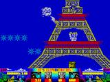 CJ's Elephant Antics ZX Spectrum Incoming lightning at the Eiffel Tower