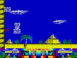 CJ's Elephant Antics ZX Spectrum Riding a platform