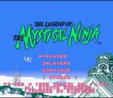 The Legend of the Mystical Ninja SNES English Title screen