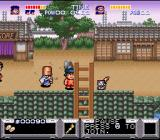 The Legend of the Mystical Ninja SNES In the first village - Cats can be collected to upgrade your weapon from a pipe to a yo-yo