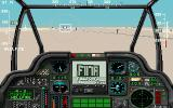 Gunship 2000 DOS Found an easter egg, a billboard announcing F117A, another flight simulator from MicroProse (MCGA/VGA)