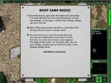 Army Men: World War Windows Boot Camp<br>The player explores the terrain in a very controlled manner moving from one notice board to the next, sometimes performing a task or collecting a weapon