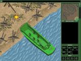 Army Men: World War Windows Campaign<br>The squad hit the beach in the lower right of the mini map. The target is in the upper left
