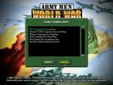 Army Men: World War Windows Lots of options for a multiplayer game