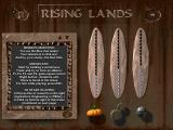 Rising Lands Windows Mission briefing (demo version). You can set research priorities on this screen as well.